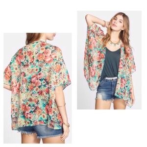 Band of Gypsies | Bright Floral Boho Kimono S/M